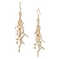 Corals Fashion Earrings - Gold