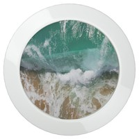 Shimmering Turquoise Ocean Waves and sand USB Charging Station
