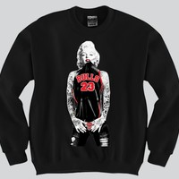 Marilyn Monroe Chicago Bulls Crewneck Sports Clothing