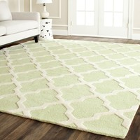 Safavieh Handmade Moroccan Cambridge Light Green Wool Rug | Overstock.com Shopping - The Best Deals on Accent Rugs