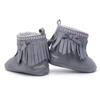 Toddler Shoes Soft Anti-slip Sole Boots Booties Moccs Newborn Baby From Children Girl Solid Fringe Moccasin Kids Shoes