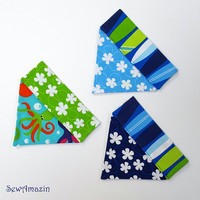 Surf Dog Bandana, Summer Dog Bandana, Small Dog Over-the-Collar Bandana