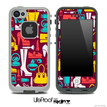 The Colored Vector Shopping Skin for the iPhone 4-4s or 5 LifeProof Case