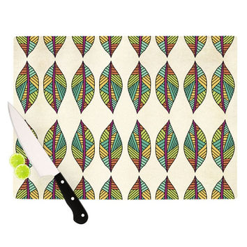 "Pom Graphic Design ""Tribal Leaves"" Cutting Board"