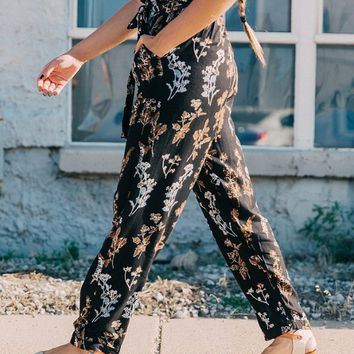 Angie Floral Wide Leg Pant - Women's Pants in Black Multi | Buckle