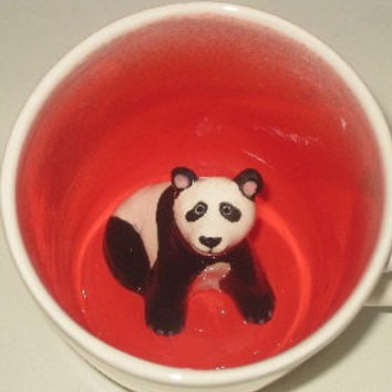 $25.00 Panda Surprise Mug by SpademanPottery on Etsy