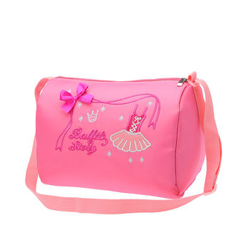 New Girls Ballet Dance Bag Child Pink Waterproof Garment Duffle Bags Female Cute Crossbody Backpack