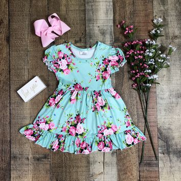 RTS Whimsical Rose Girls Dummer Dress!! D35