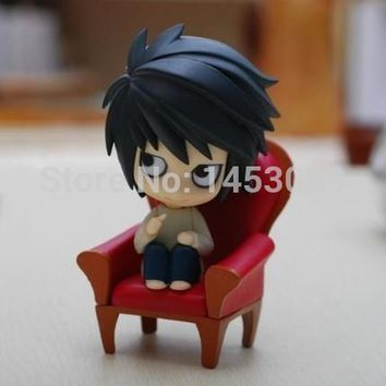 Cute Death Note Anime L #17 Nendoroid PVC Action Figure Colletion Model Toy Doll