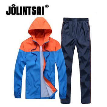 Fashion Tracksuit Casual Male Sporting Suit Clothing Hooded Jacket+Pants Men Hip Hop Sweatsuits Streetwear Oversized Sets 4XL