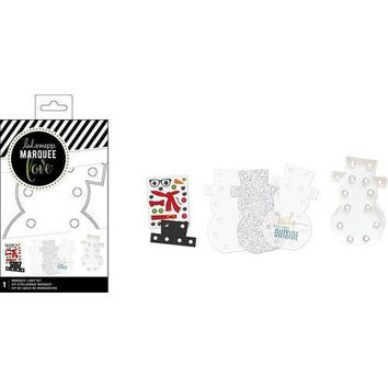 American Crafts Heidi Swapp Marquee Love Collection Christmas DIY Marquee Kit Snowman