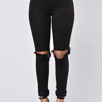 Clean Break Jeans - Black