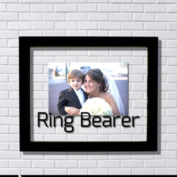 Ring Bearer Frame - Floating Frame - Photo Picture Frame - Wedding Ceremony