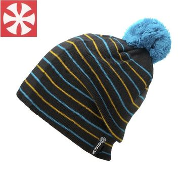 2017 New Hiphop Striped Ball Christmas Hats for Men and Women Winter Ice Casual Walking Beanies Birthday Gift Hot Bonnet Caps