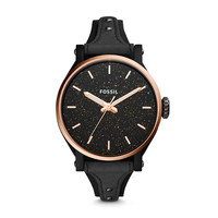 Original Boyfriend Sport Three-Hand Black Leather Watch - $135.00