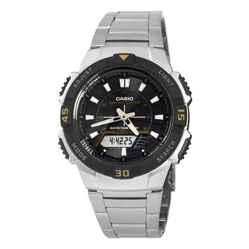 Casio Mens Slim Solar Multi-Function Analog-Digital Watch