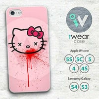 Bloody Hello Kitty iPhone 4 Case, Cute Girly Cartoon iPhone 4/4g/4s Hard Case Rubber Case,cover skin case for iPhone 4 4g 4s case