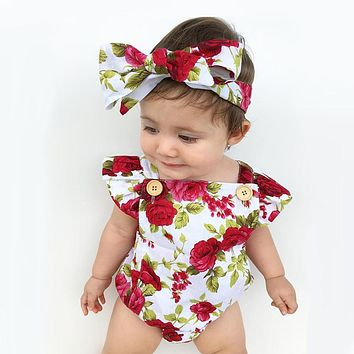 Floral 2PCS Newborn Baby Girl Clothing Set