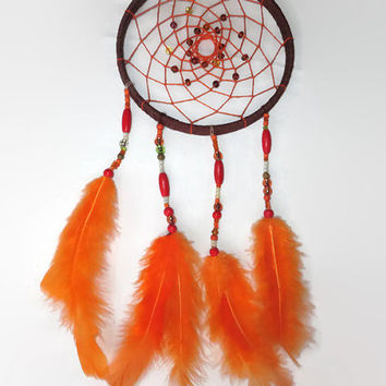 Dreamcatcher. FREE SHIPPING. Large Dream Catcher, Bohemian Decor, Feather Wall Art.  Wall Hanging Dreamcather