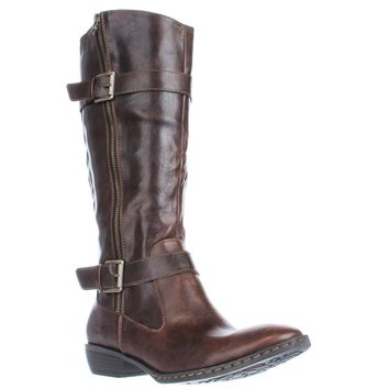 Born Lampards Knee High Harness Boots, Brown, 8.5 US / 40 EU