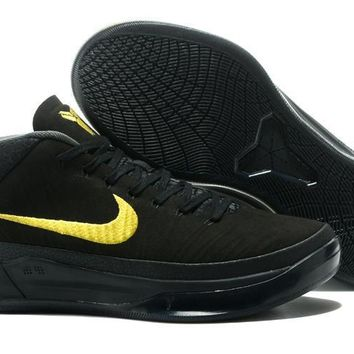 Nike Mens Kobe AD 13 Mid Black/Gold Basketball Shoes