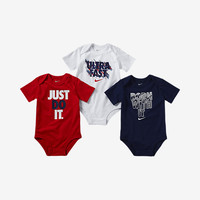 "The Nike ""Ultra Fast"" Three-Piece Infant/Toddler Boys' Bodysuit Set."