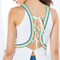 Celia Embroidered Halter Top