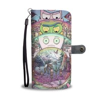 QIYIF Rick And Morty The Rick Must Be Crazy Wallet Phone Case