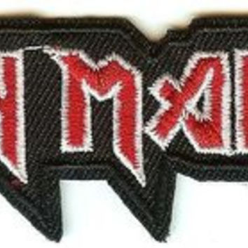 Iron Maiden Iron-On Patch Small Classic Letters Logo