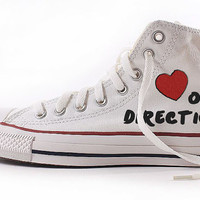 One Direction Custom Shoes 'Hand Painted' 1D