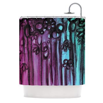"Ebi EMporium ""Winter Garden - Ombre"" Purple Teal Shower Curtain"