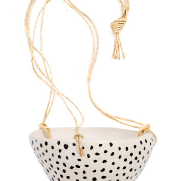 Inkspot Hanging Ceramic Planter