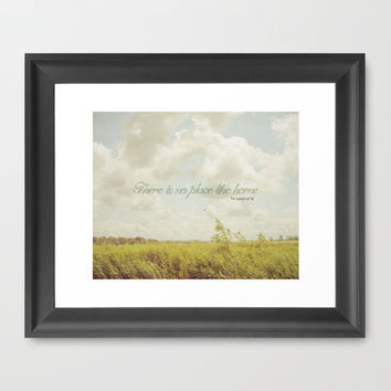There is no place like home -The Wizard Of OZ Framed Art Print by secretgardenphotography [Nicola]