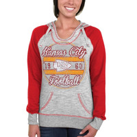 Kansas City Chiefs Majestic Women's O.T. TD IV Pullover Hoodie - Gray