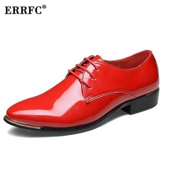 ERRFC Men Round Toe Dress Shoes