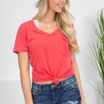 Leah Basic Pocket Top | Colors