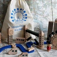 London In A Bag Wooden Play Set