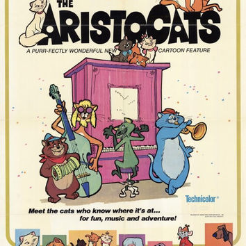 The Aristocats 27x40 Movie Poster (1971)