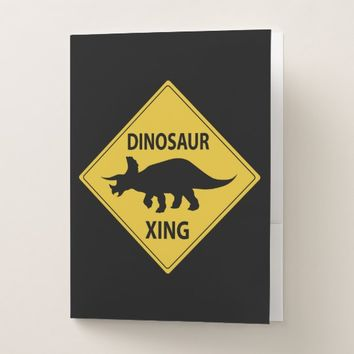 Dinosaur Xing Pocket Folder