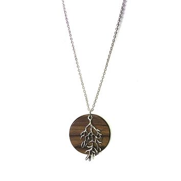 Make a Wish Tree Branch & Wood Plate Necklace