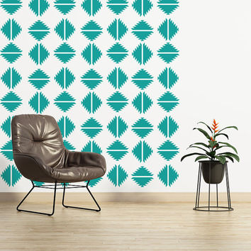 Southwestern Wall Decal, Navajo Wall Decal, Southwestern Wall Decor, Geometric Wall Pattern, Diamond Wall Decal, Modern Wall Art