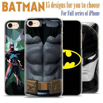 Batman The Dark Knight plastic scratch-resistant Matte Phone Case Cover Shell For Apple iPhone 7plus 7 6splus 6s 6plus 6 5 5s se