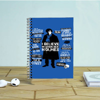 Sherlock Homes Cool Quote Photo Notebook Auroid
