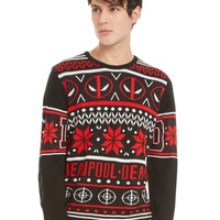 Marvel Deadpool Fair Isle Sweater