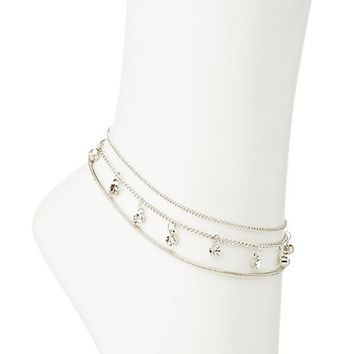 Crystal & Chain Anklet Set | Charlotte Russe