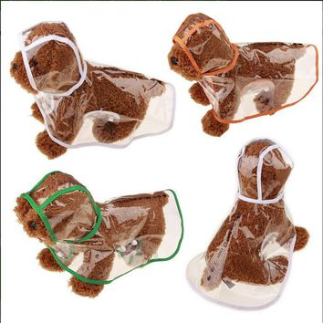 Creative Transparent England Fashion capes Pet Dog Rain Coat  Clothes Dogs Waterproof Cloak Puppy Dresss