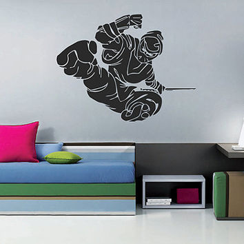 kik648 Wall Decal Sticker Japanese ninja mercenary killer living room sleeping teenager