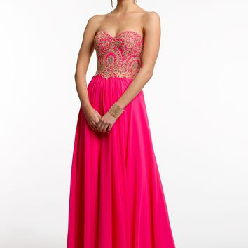 Beaded Lace Strapless Ballgown from Camille La Vie and Group USA