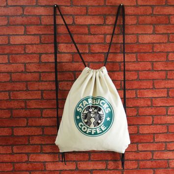 """Casual Hot Deal Stylish On Sale""""Starbucks"""" Back To School Comfort Canvas With Pocket Bags Backpack [8267814151]"""