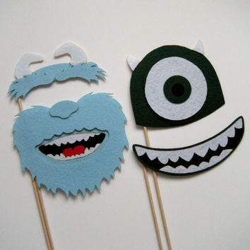 Monsters University Monsters Inc. Photo booth props props on a stick